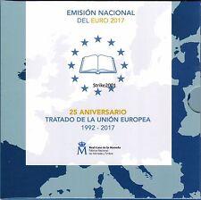 NEW !!! Euro SPAGNA 2017 Folder Ufficiale 8 monete FDC + 2 Euro Comm. OVIEDO