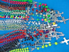 US SELLER-$1.35/pc, 24 necklace rosary wholesale jewelry catholic Crucifix cross