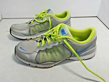 Nike Shoes Flex TR2 Womens Size 9 Two Tone Silver Grey Volt Color Good Pre-Owned