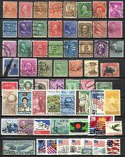 U.S.A. - lot de timbres oblitérés - tous différents + EXTRA en timbres .