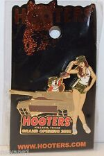 HOOTERS MILITARY GIRL ARMY TANKER TANK KILLEEN TX TEXAS PIN GRAND OPENING FLAG