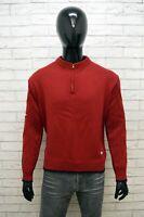 Maglione Uomo Fila Taglia 50 Cardigan Pullover Sweater Felpa Lana Rosso Man
