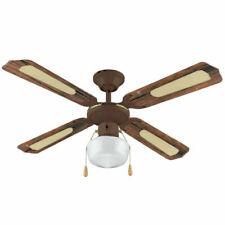 Vinco 70919 55W 230V Ventilatore da Soffitto Con 4 Pale e 1 Luce - Marrone, 45cm