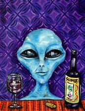 alien wine 8.5x11  art PRINT glossy photo gift JSCHMETZ