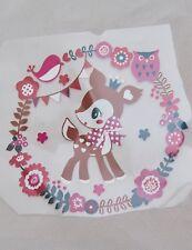 DIY Cute Girl Baby Forest Deer Vinyl Transfer