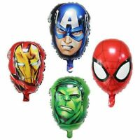 Avengers Hulk Spiderman Iron Man Captain America Balloons Superhero Party Decor