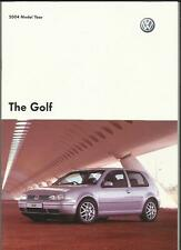 VW VOLKSWAGEN GOLF MATCH, GTI, V5 et V6 4motion brochure 2003 2004