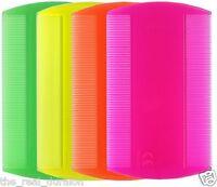 NEON Headlice Double Sided Nit Comb Head Lice Detection Nits Kids Pet Flea x 4