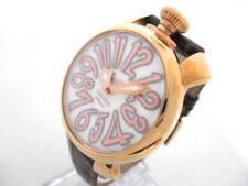 Auth GAGA MILANO Manuale 40 5021 White 18288 Men's Wrist Watch