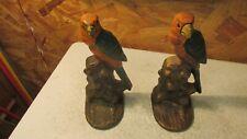 Antique Cast Iron Birds Bookends- Pair