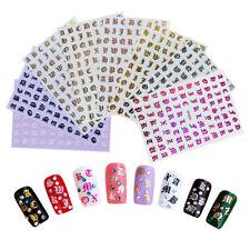 Nail Art Sticker 3D Retro English Alphabet Foil Laser Decals Manicure Decoration