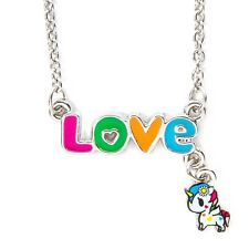Tokidoki Unicorno Necklace Love Nameplate Unicorn Neon Star Multi Color NWT