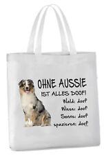 """Einkaufstasche """"Ohne Aussie ist alles doof!"""" BLUE MERLE Hund Australian Shepherd"""