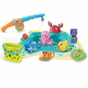 vTech Baby Wiggle & Jiggle Fishing Fun - 3 Modes of Play with Sound and Light