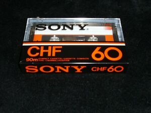 SONY CHF 60,Audio Cassette,1981,Excellent condition for collection,MADE IN JAPAN