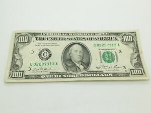 Old Paper Money 1981 One Hundred $100 Dollar Bill Federal Reserve Note New York