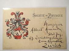Société de Zofingue - Zofingia - 1895 / Studentika Schweiz
