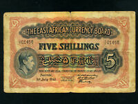 East Africa:P-28,5 Shillings,1941 * King George VI *