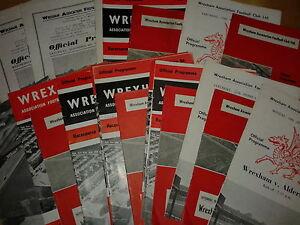 Wrexham HOME programmes 1960's League & Cup