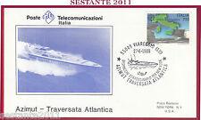 ITALIA FDC 1988 POSTE TELECOMUNICAZIO. AZIMUT TRAVERSATA ATLANTICA VIAREGGIO Z56
