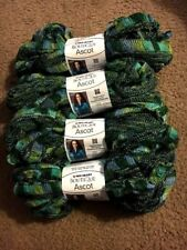 4 Skeins Red Heart Boutique Ascot ~ PUCKER ~ (Greens)