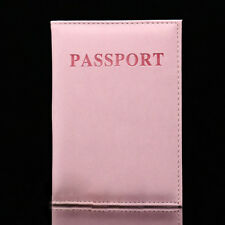 Pink Feather Travel ID Card Organizer Passport Holder Case Cover Protector Tool