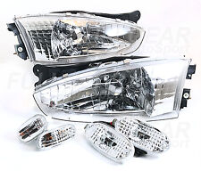 CLEAR HEADLIGHT + FRONT & REAR SIDE MARKER FOR MITSUBISHI MIRAGE 2DR COUPE 97-02