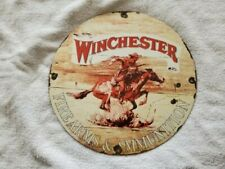 porcelain signs gas oil vintage WINCHESTER