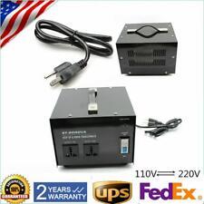 2000W 110V to 220V Voltage Step Up/Down Power Converter Transformer Heavy Duty