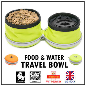 Bowl Dog Food Water Travel Truelove Truelove Orange Yellow Large Pet Compact