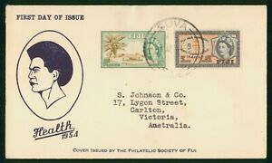 Mayfairstamps Fiji 1944 Suva Health Stamps Dual Frank first Day Cover wwr18631