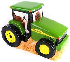 John Deere Tractor Large Cookie Treat Candy Jar Farming Machinery Gibson Farm