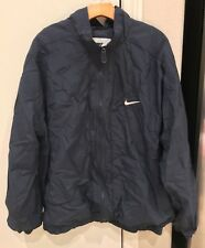 VINTAGE 90's Nike Windbreaker Jacket Tracksuit Blue Mens Size XL