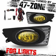 Stealth For 2005-2007 Acura RSX DC5 Chrome Housing Yellow Lens Fog Lights Lamps