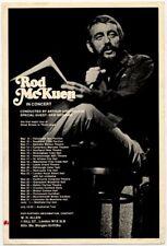 Rod McKuen Promo Flyer/Card UK Tour 1975
