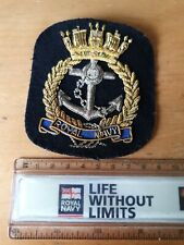 Royal Navy bullion blazer badge