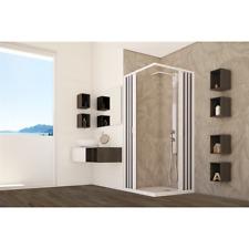Box doccia PVC cabina angolare soffietto in acrilico riducibile su misura