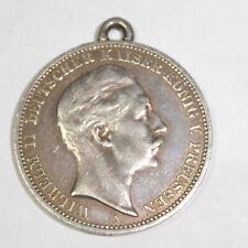 Münzanhänger, Münze Preussen 3 Mark 1909