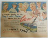 Sheaffer's Skrip Ink Ad:  Sheaffer's Skrip Ink from 1945 Size: 11 x 15 inches