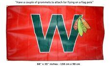 Free Shipping to US - NEW Chicago NHL Blackhawks W WIN 3x5 Feet  FLAG BANNER