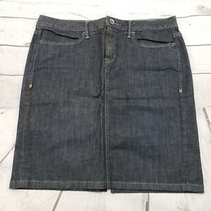 Converse One Star Denim Skirt Size 8 Womens Blue Pencil Straight EUC Used Condit