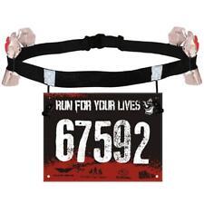 Unisex Triathlon Marathon Race Number Belt With Gel Holder Outdoor Supplies Ho3