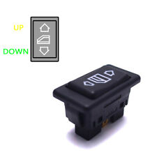 Universal Car Electric Power Window Switch Button With Green Light 6Pin 12/24V