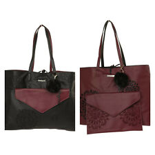 Desigual SONDERPREIS Damen Shopper Tasche Aleida Seattle Wendetasche Clutch 3in1