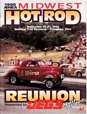 1998 NHRA Midwest Hod Rod Reunion Program National Trail Raceway Drag Racing Jeg