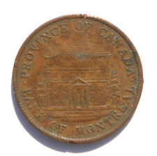 1844 Bank of Montreal Provence of Canada One Half Penny Bank Token