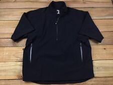 FJ FootJoy DryJoys Tour Collection 1/2 Zip Pullover S/S Golf Jacket L Black PGA