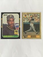 1987 Topps and Donruss Barry Bonds (2) card Rookie lot