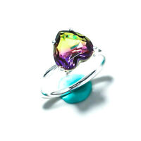 AMETRINE GEMSTONE 925 SOLID STERLING SILVER JEWELRY RING 8
