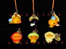 Bandai San-X Kamonohashikamo Kamo Duck figure strap gashapon (full set 6 pcs)